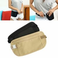 Slim Waist Travel Pouch Hidden Compact Security Money Passport ID Holder Bag New
