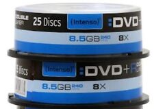 50x Intenso Rohlinge DVD+R Double Layer SILVER 8,5 GB 8x Spindel