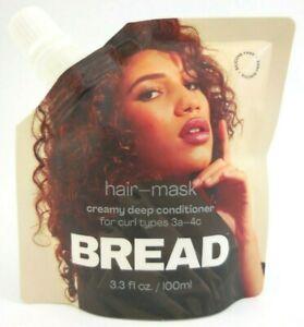 Bread Hair Mask Creamy Silicone Free Velvety Deep Conditioner 3.3 fl oz NEW