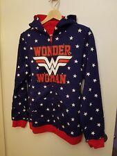 DC Comics Wonder Woman Reversible Hoodie Juniors Large Full Zip Blue/Red