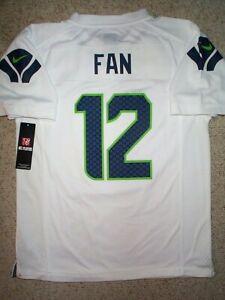 *IRREGULAR* Seattle Seahawks #12 (FAN) nfl NIKE Jersey Youth Kids Boys (L-LARGE)