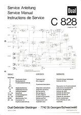 Service Manual-Anleitung für Dual C 828