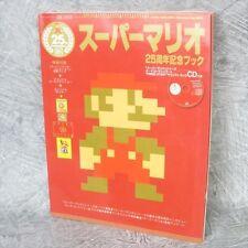SUPER MARIO 25th Anniversary Book w/Poster CD Sticker Fanbook Guide *