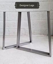1 Pair TRAPEZIUM Table/Bench Legs Metal Steel Industrial Rustic MADE IN UK