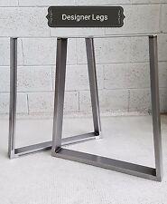 1 Pair TRAPEZIUM Table/Bench Legs Metal Steel Industrial Rustic MADE IN UK
