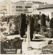 a2  Postcard RPPC Cemetery Mission Dolores SF San Francisco 332a