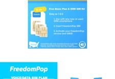 FreedomPop Lte Sim Kit - 3-In-1 - Voice/Data Bundle Prepaid Carrier Locked An.