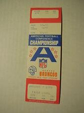 1979 Phantom TICKET STUB (Game never played) AFC CHAMPIONSHIP 1/7/1979