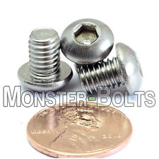 M6-1.0 x 8mm - Qty 10 - Stainless Steel BUTTON HEAD Socket Cap Screws ISO 7380