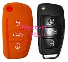 ORANGE SILICONE CAR KEY COVER for AUDI A1 A3 Q3 Q7 R8 A6L TT