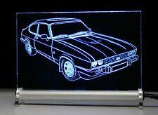 LED Leuchtschild graviert ist  Ford Capri  BJ ab 1978 - Autogravur auf Acrylglas