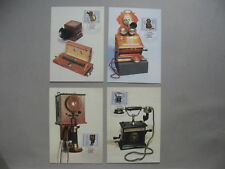 GERMANY DDR, 4x maximumcard maxi card 1989, ancient telephones