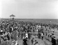 Photo. ca 1912. Coney Island, Brooklyn. Waterfront - Beach - Crowds of Bathers