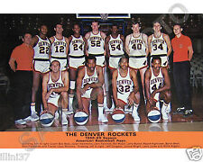 1968-69 DENVER ROCKETS ABA BASKETBALL TEAM 8X10 PHOTO PICTURE #2 COLOR