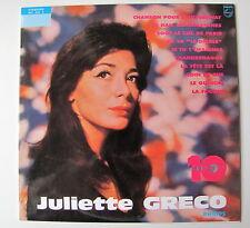 """JULIETTE GRECO...N 6 """"10 ANS DE CHANSONS"""".25 CM N°495"""