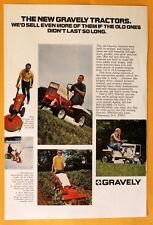 Vintage Magazine Print Ad 1971 Gravely Garden Tractors Snowblower Tiller