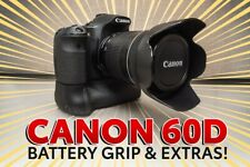 Canon 60D Camera with 18-135mm Lens + Battery Grip + More - Low Shutter Count