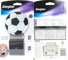 2 Energizer Soccer Themed Automatic On/Off Energy-Efficient LED Nightlights