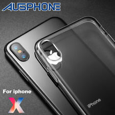 For Apple iPhone X 10 Case Slim Clear TPU Soft Bumper Shockproof Thin Back Cover