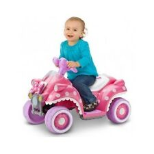 Girls Ride On Minnie Mouse Car Pink Battery Power 4 Wheel Toddler Toy Ride-On