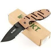 CRKT Ryan Model 7 - Black Blade/Partially Serrated folding knife