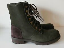 UGG Australia Kilmer Combat Boots Women 6 Water Resistant Slate Leather NEW