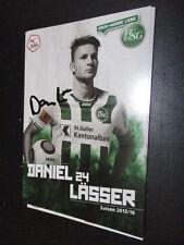 56301 Daniel Lässer FC St Gallen original signierte Autogrammkarte