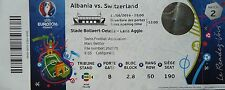 TICKET 11.6.2016 Albania Albanien - Switzerland Schweiz Match 2 in Lens