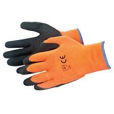 Hi-vis Naranja constructores Guantes de trabajo-Látex húmedas para un excelente agarre - One Size