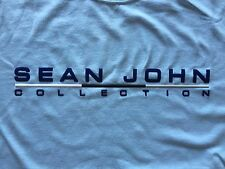SEAN JOHN T-SHIRT NEW LIGHT BLUE SHORT SLEEVE CREWNECK MENS SIZE L WITH DEFECTS