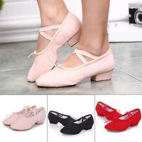 Ballroom Salsa Tango Latin Low Heels Dancing Shoes for Women Ladies Girls Dance