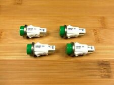 4 BBT Waterproof 12 volt Green LED Push-In Indicator Lights