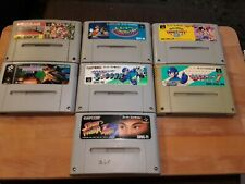 Lot of 7 Nintendo Super Famicom Games *USED* *Carts only*