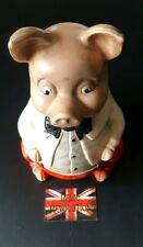 Vintage MR PIG Money/Piggy BankMade by Ellcreave Pottery England.. Collectable