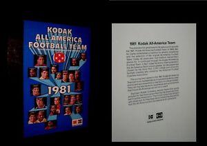 Original 1981 ALL AMERICA FOOTBALL TEAM Marcus Allen HERSCHEL WALKER Dan Marino