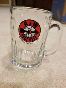 """Vintage A&W Root Beer Heavy Glass Arrow Bullseye Target MUG 3 1/2""""×6"""""""