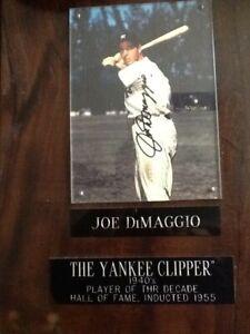 Joe DiMaggio The Yankee Clipper  Autograpged 10x12 Plaque