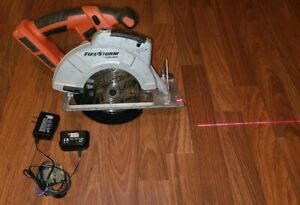 Black & Decker Cordless 18v Firestorm Circular Saw f Laser Trac, Battery Charger