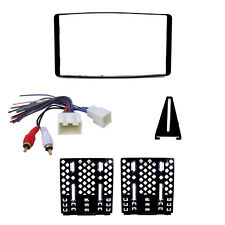 Radio Replacement Dash Kit 2-DIN w/Amp Retain Harness for Ford/Lincoln/Mercury
