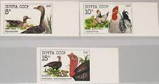 RUSSIA SOWJETUNION 1990 6102-04 U 5909-11 imperforated Poultry Geflügelzucht MNH