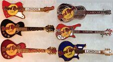 Hard Rock Cafe LONDON ENGLAND 1990s Guitars 6 PIN LOT Collection Set RARE MINT