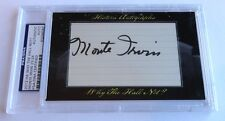 Monte Irvin 2012 Historic Autograph Why the Hall Not? PSA/DNA New York Giants/24