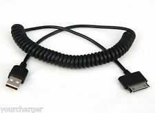 Coiled USB cable for Samsung Galaxy Tab 7.7 GT-P6800 GT-P6810 7.0 Plus GT-P6210