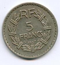 TRES RARE 5 FRANCS LAVRILLIER NICKEL DE 1937 ! RARE N°2