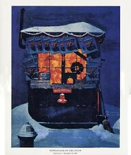 Norman Rockwell Christmas Print Newsstand In The Snow