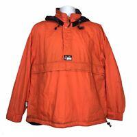 Vtg Chaps Ralph Lauren 90s Windbreaker Jacket Orange Streetwear Activewear M