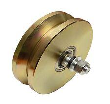 """6"""" V Groove Wheel Double Bearing Sliding Gate 5000 lbs Roller Slide + Screw"""