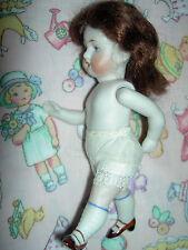 Pretty, antique j'td. all bisque, swivel neck German Kestner 620 dollhouse doll