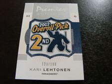 2007-08 O-Pee-Chee Premier Stitchings Kari Lentonen Patch Card (B23) Thrashers