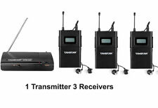 Takstar In-Ear WPM-200 1 Transmitter + 3 Receivers Wireless Stage Monitor F1 G0